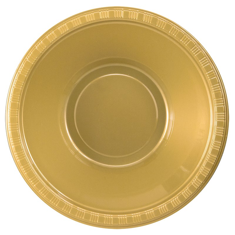 Glittering Gold (Gold) Plastic Bowls (20 count) for the 2015 Costume season.
