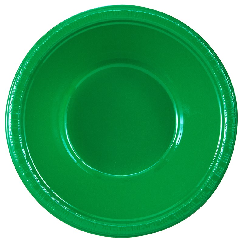 Emerald Green (Green) Plastic Bowls (20 count) for the 2015 Costume season.