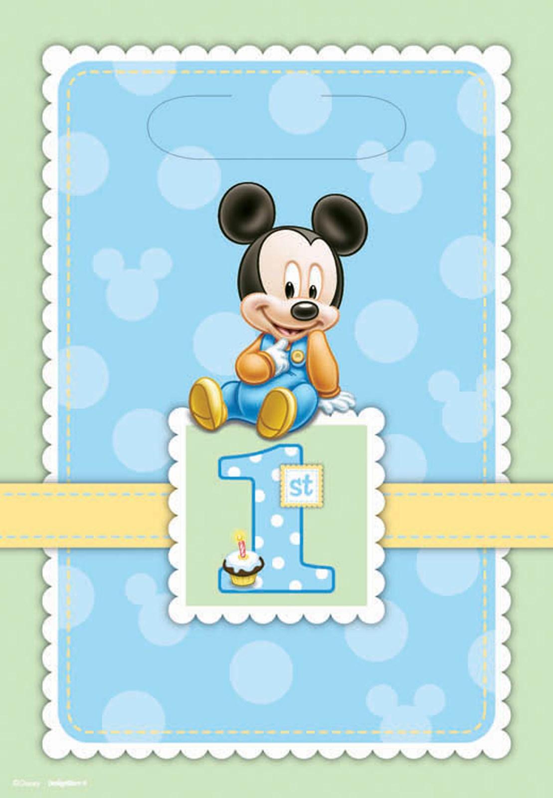 Disney Mickeys 1st Birthday Treat Bags 8 count