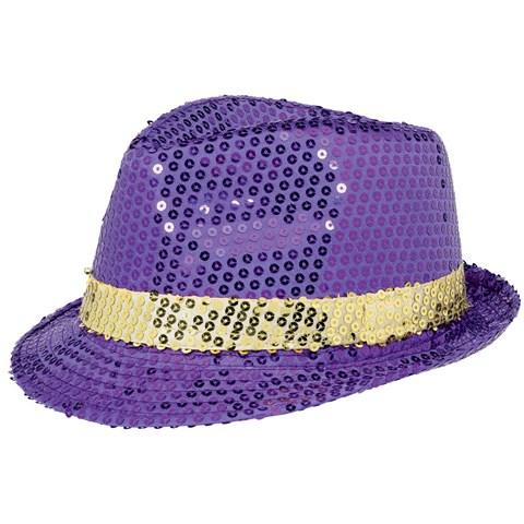 Mardi Gras Sequin Hat