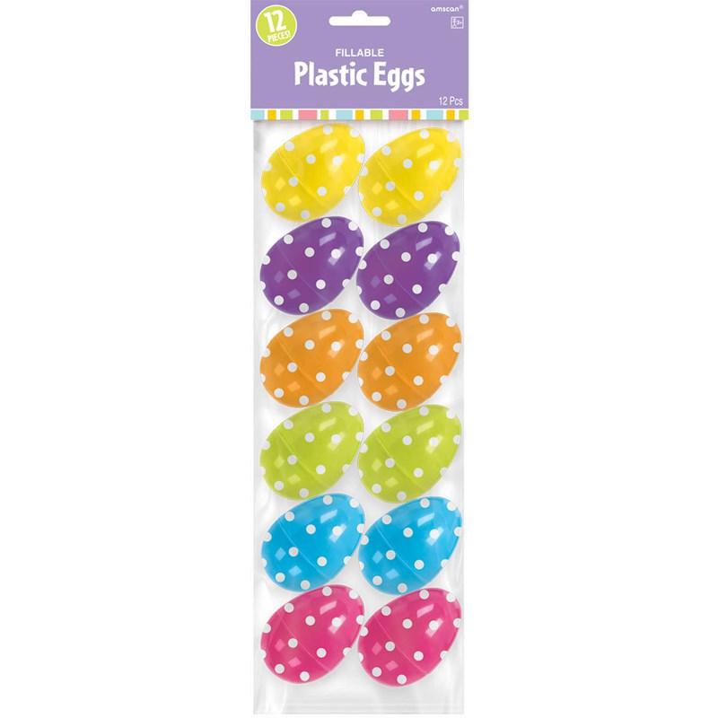 Easter Polka Dot Small Plastic Easter Eggs (12) for the 2015 Costume season.