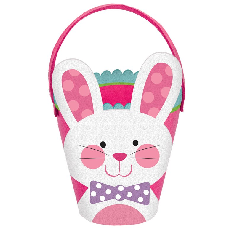 Easter Felt Bunny Bucket   Pink for the 2015 Costume season.