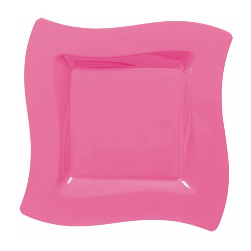 Hot Pink Wavy Square Plastic Dessert Plates (10 count) for the 2014 Costume season.