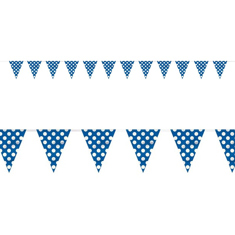 Blue and White Dots Flag Banner for the 2015 Costume season.