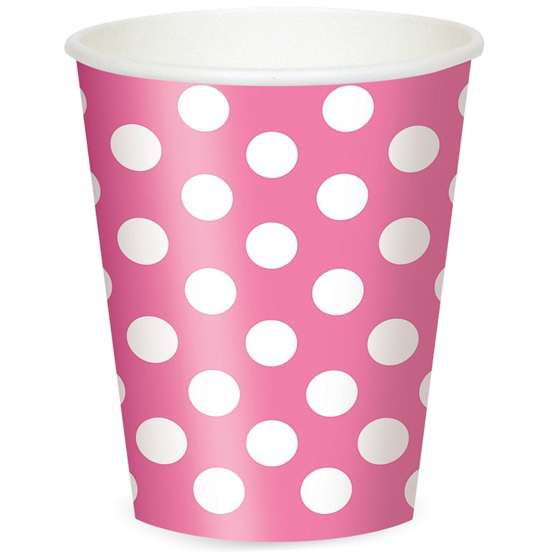 Pink and White Dots 12 oz. Cups (6) for the 2015 Costume season.