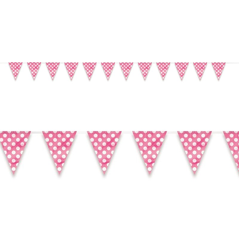 Pink and White Dot Flag Banner for the 2015 Costume season.