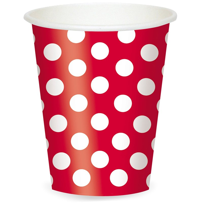 Red and White Dots 12 oz. Cups (6) for the 2015 Costume season.