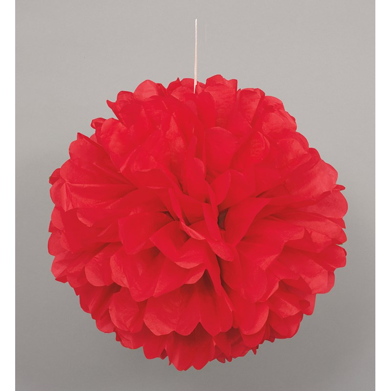 Red Hanging Puff Ball for the 2015 Costume season.