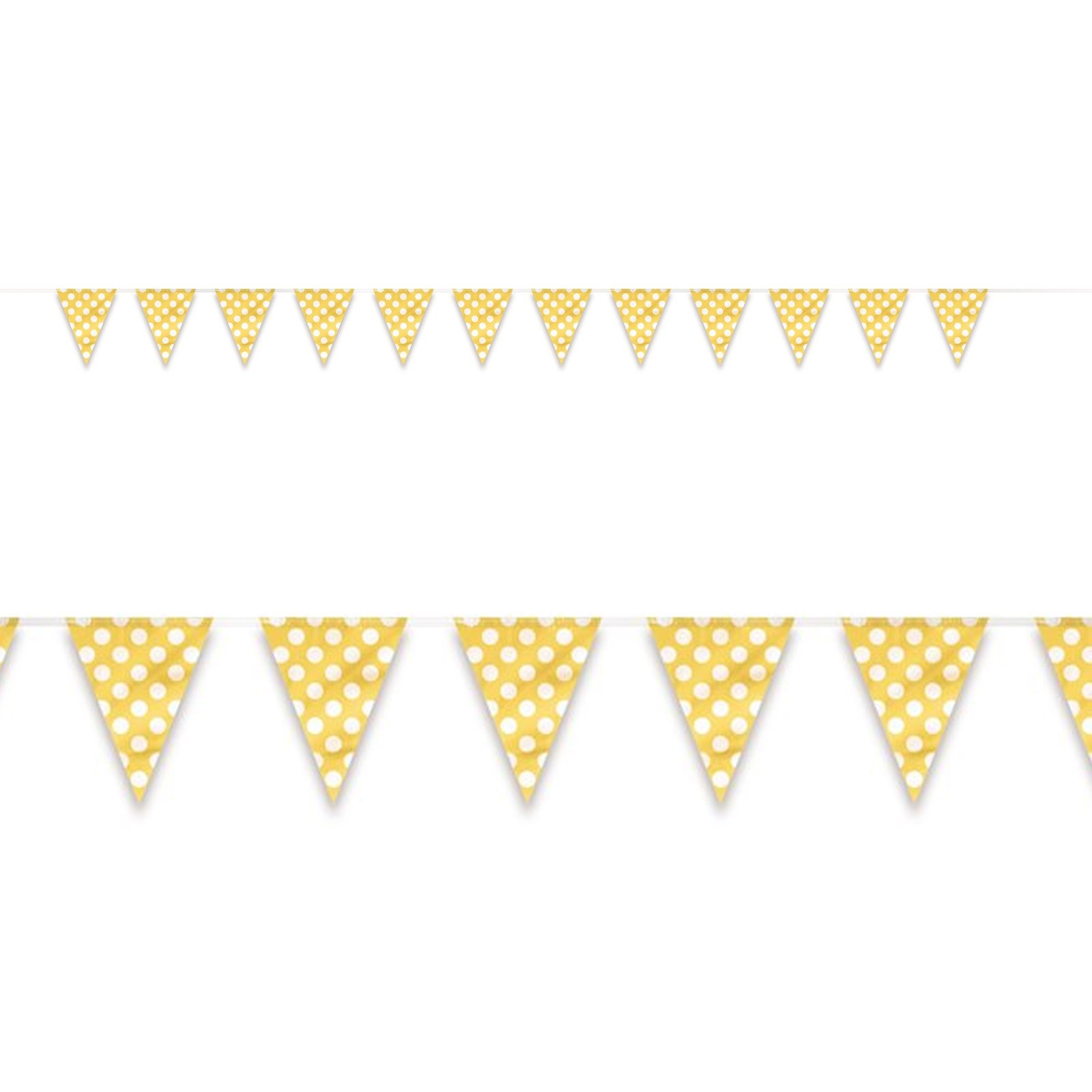 Image of Yellow and White Dot Flag Banner