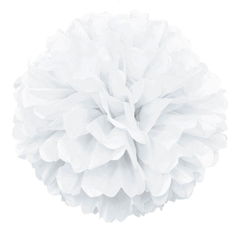 White Hanging Puff Ball for the 2015 Costume season.