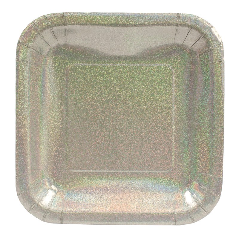 Glitz Silver Square Dinner Plates (8) for the 2015 Costume season.