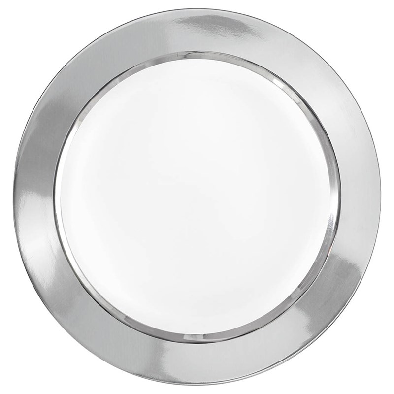 Round Dessert Plates with Silver Border (16) for the 2015 Costume season.