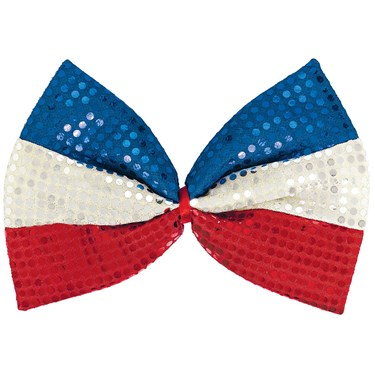 Patriotic Jumbo Sequin Bow
