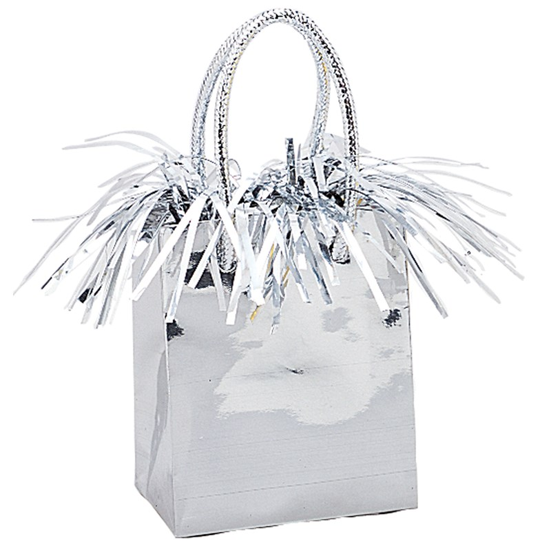 Mini Gift Bag Balloon Weight   Silver for the 2015 Costume season.
