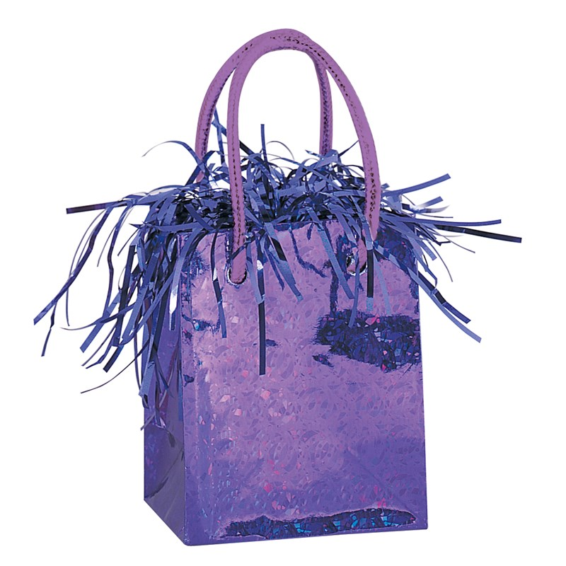 Mini Gift Bag Balloon Weight   Purple for the 2015 Costume season.