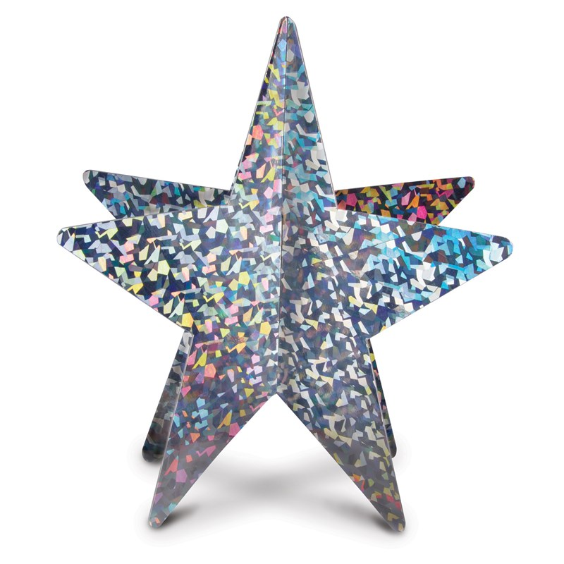 Silver 3D Prismatic Star Centerpiece for the 2015 Costume season.