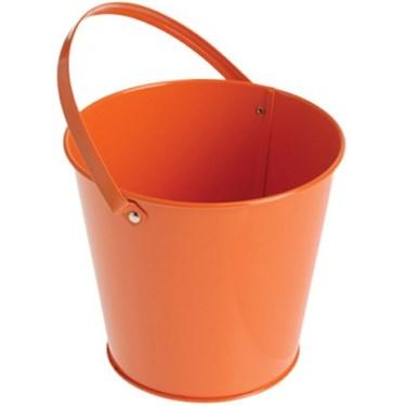 Metal Bucket - Orange