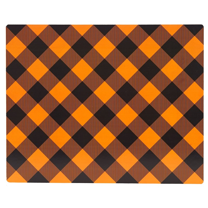 Orange and Black Plaid Placemat (4) for the 2015 Costume season.