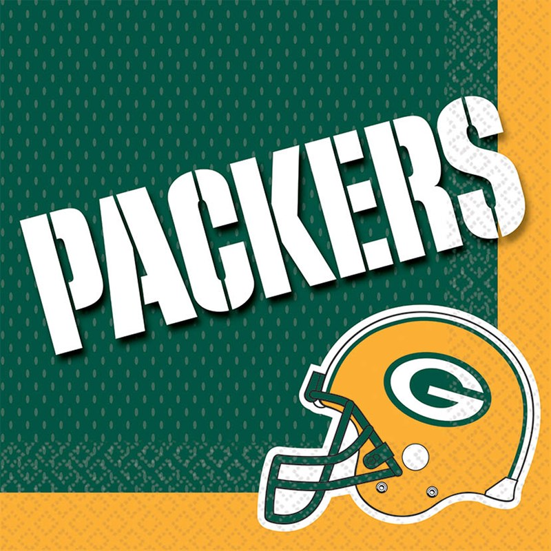 Green Bay Packers Lunch Napkins (16) for the 2015 Costume season.
