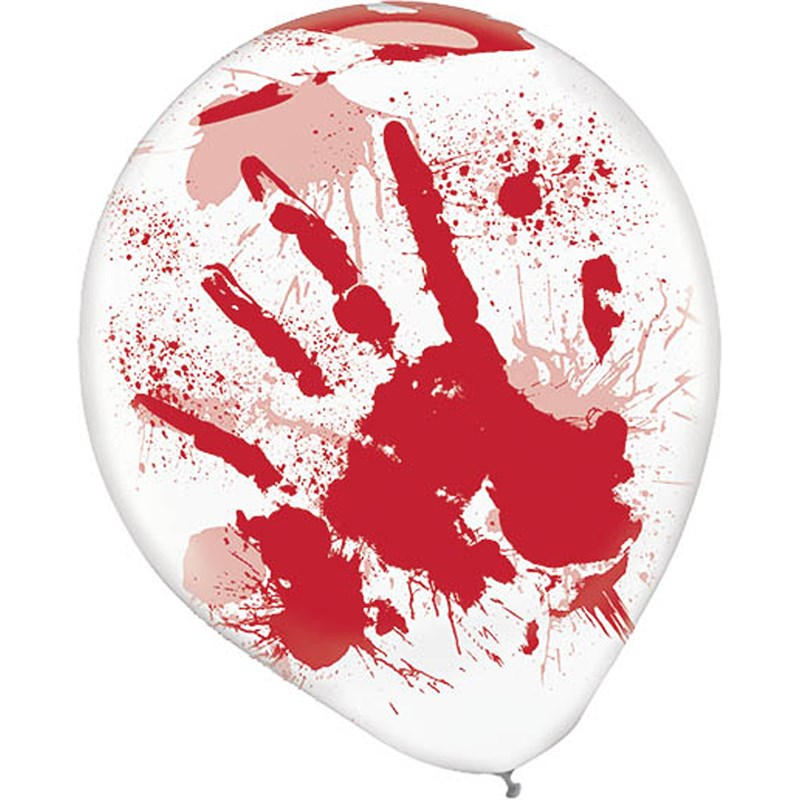 Bloody Printed Latex Balloons (6) for the 2015 Costume season.