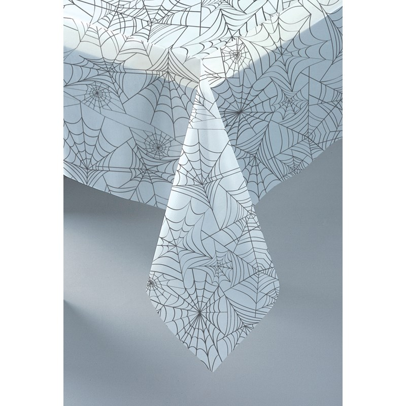 Clear Spider Web Plastic Tablecover for the 2015 Costume season.