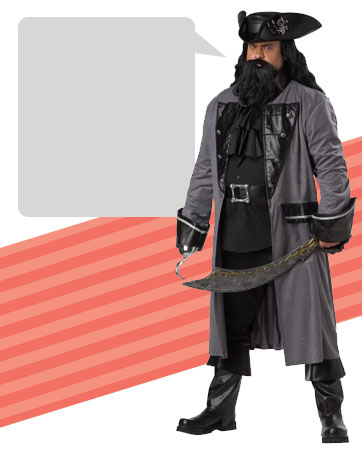 Blackbeard Costume
