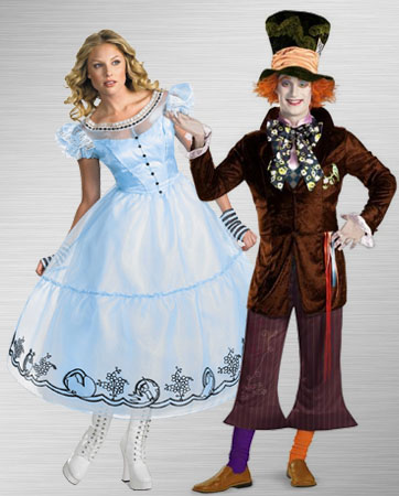 Alice and Mad Hatter Couples Costumes