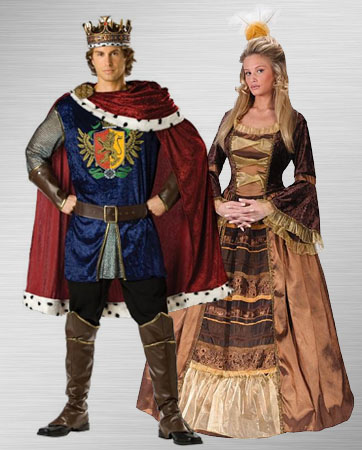 King & Queen costume