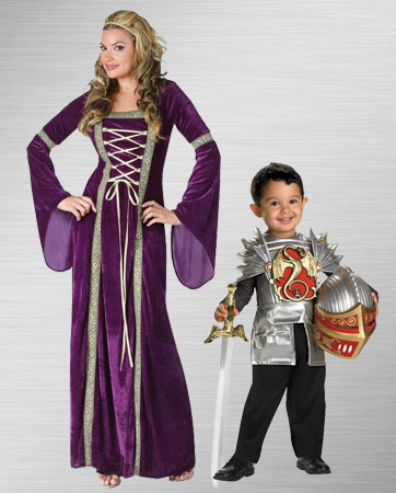 Renaissance Lady & Toddler Knight