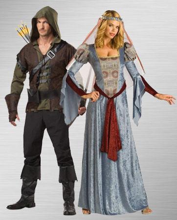 Robin Hood & Maid Marian costumes
