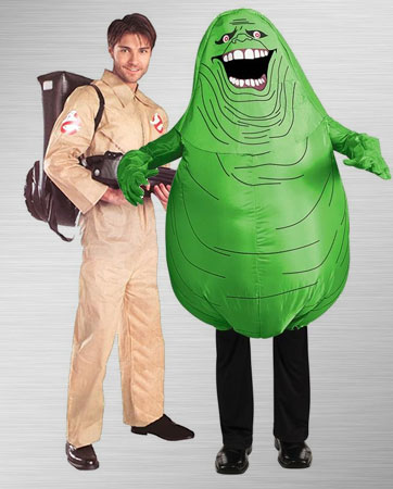 funny group costume ideas ghostbuster slimer - Funny Character Halloween Costumes