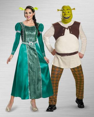 Princess Fiona & Shrek Costumes