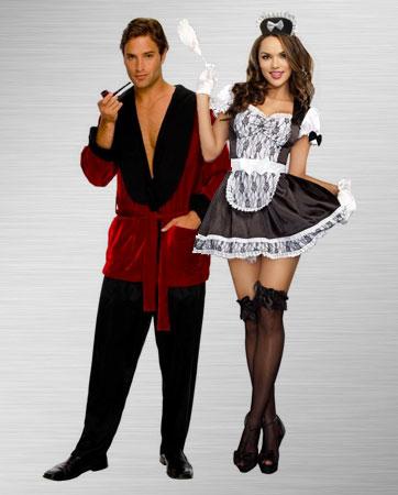Mens Smoking Jacket & French Maid Costumes