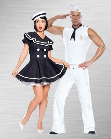 Pin Up Captain & Sailor Costume