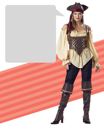 pirates of the carribean - Teenage Girl Pirate Halloween Costumes
