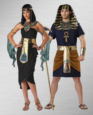 Queen Cleopatra & Egyptian Man costumes