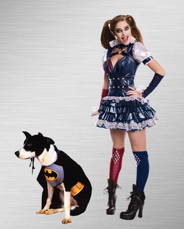 Bat Dog & Harley Quinn Costume