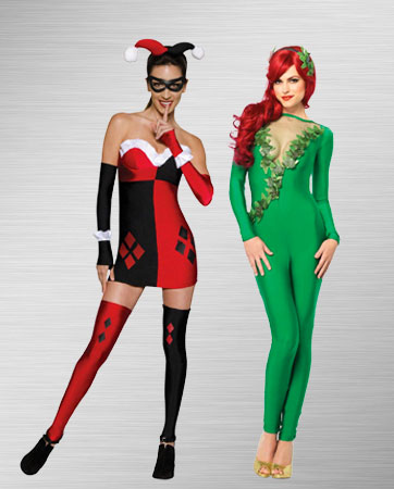 Harley Quinn & Poison Ivy costumes