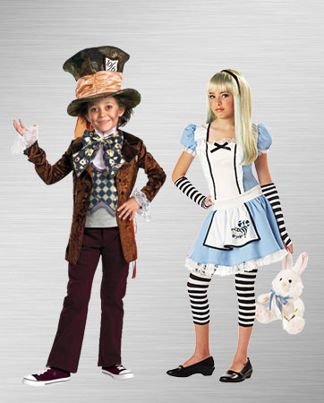 Boy Mad Hatter & Girl Alice