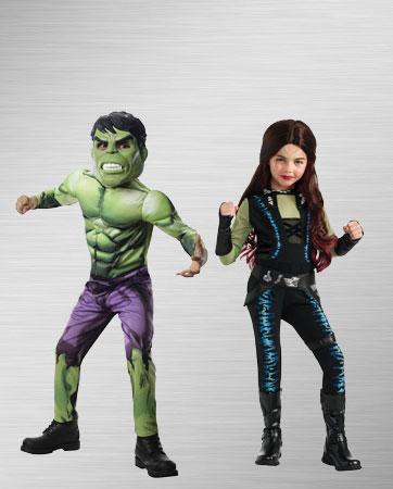 Girls Hulk & Gamora costumes