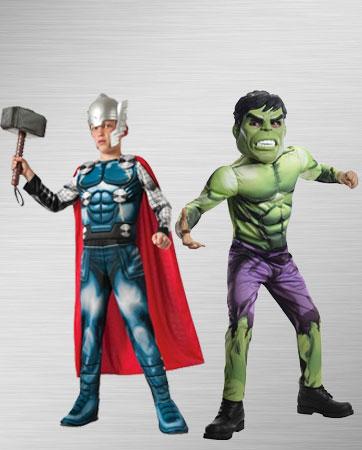 Kids Thor & Hulk costumes