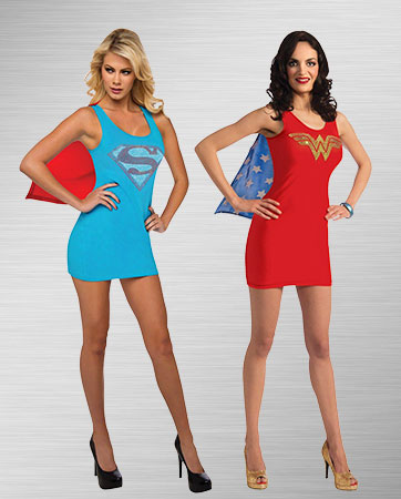 Supergirl & Wonder Woman Costumes