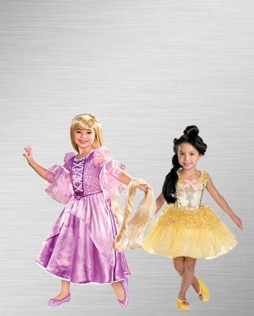 Rapunzel & Belle costumes