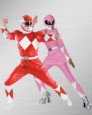 Classic Red and Classic Pink Ranger Costumes