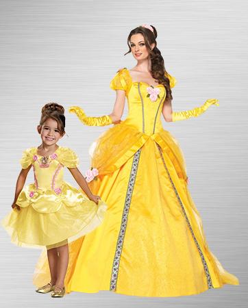 Girl & Mom Belle Costume