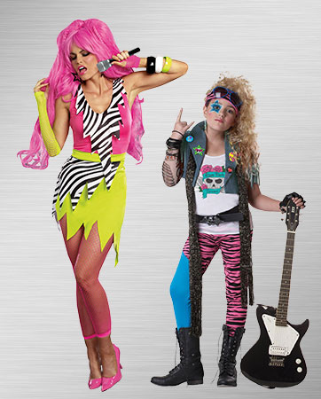 Woman & Girl Rock Star costumes