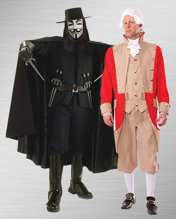 V and Red Coats Costume