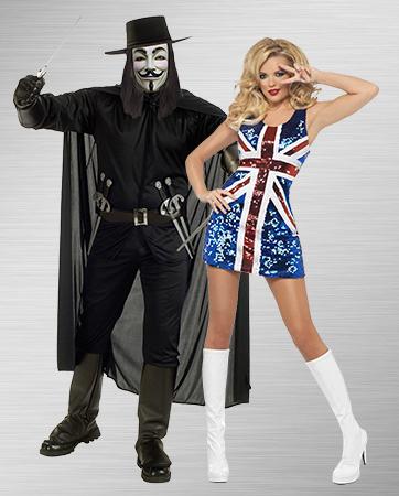 V and Britannia Union Jack