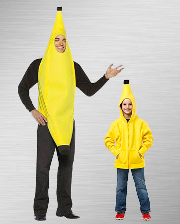 Adult banana and kid banana