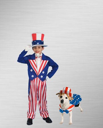 Uncle Sam Boy and Dog